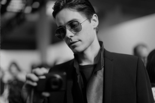 Jared taking picture of me before Dior show