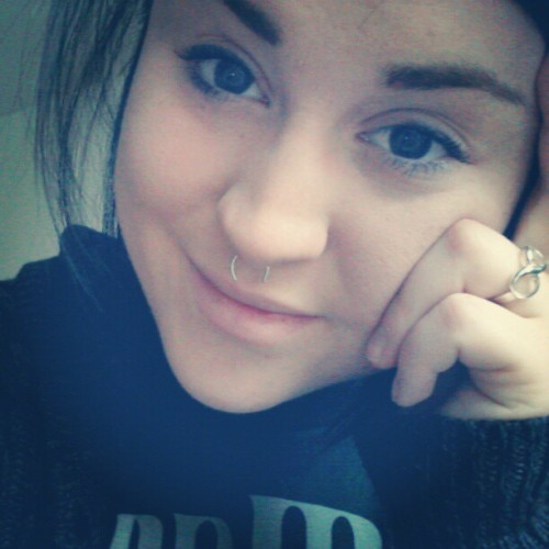 Enjoying this cold rainy day! #pretty #bum #dyke #lesbian #piercings  #septum  #ring #infinity #infinityring  (Taken with Instagram)