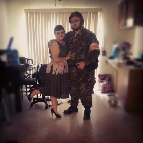 Dead houswife and Zombie soldier #Halloween (Taken with Instagram)