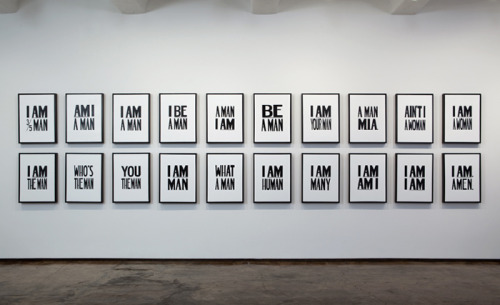 museumuesum:  Hank Willis Thomas I Am a Man, 2008 Installation View at Jack Shainman Gallery, New York, 2009