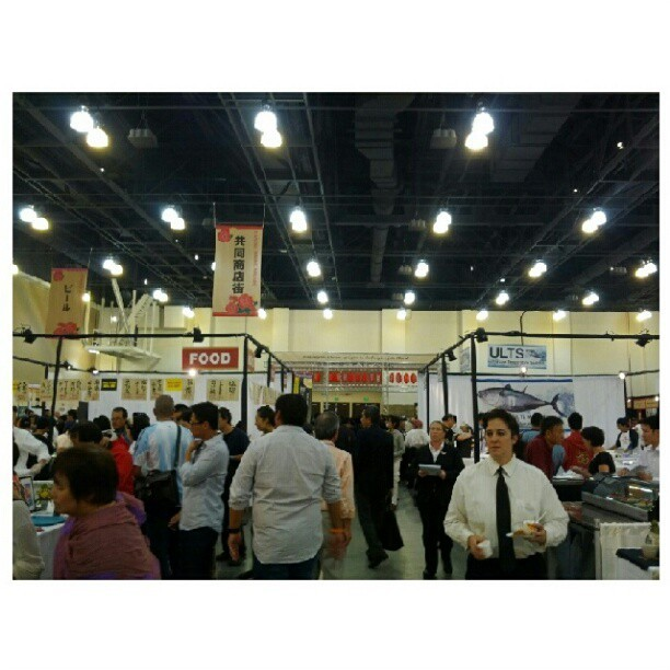 Japanese Food & Restaurant Convention. Free sushi, ramen, soba, sake, beer, etc. Thank you @lesliechoe I'm in heaven!!!! #food #sushi #convention #sake #beer #soba #ramen #japanese #japanesefood  (Taken with Instagram)