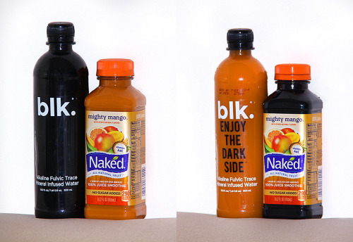 BLK. Water and MANGO NAKED bottles with Switched Liquids for Organic Efficiency (Spooktacular Savings) Very considerate of opposing views, 2012 BUY IT ON ETSY NOW