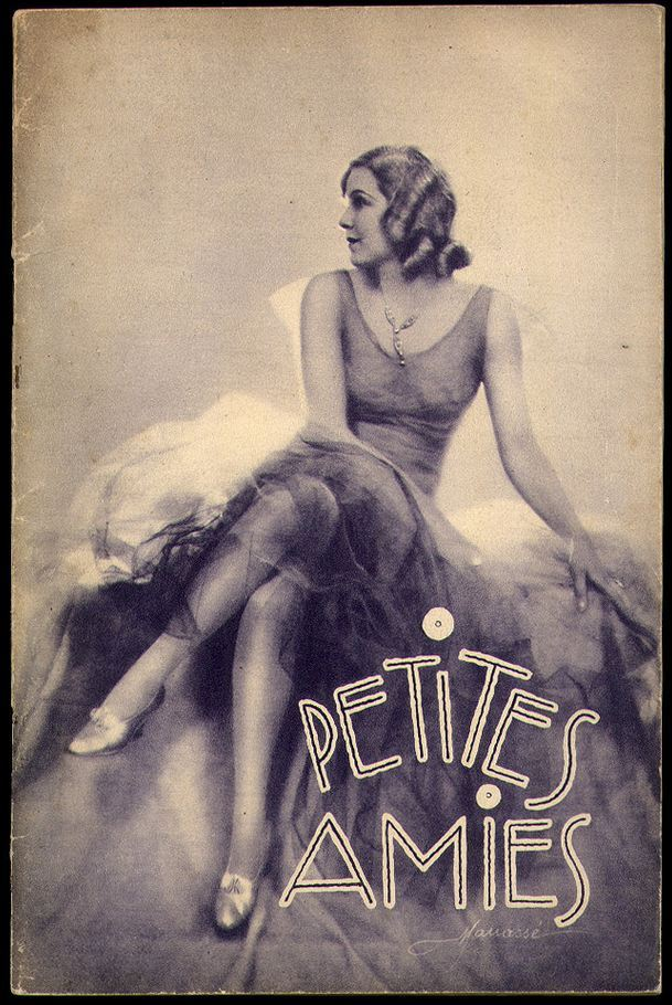 realityayslum:  Petites Amies, Les Editions de Paris, 1930. Cover photo by Studio Manasse.