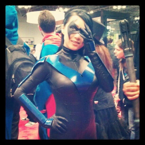 @newyorkcomiccon #nightwing #cosplay (Taken with Instagram)
