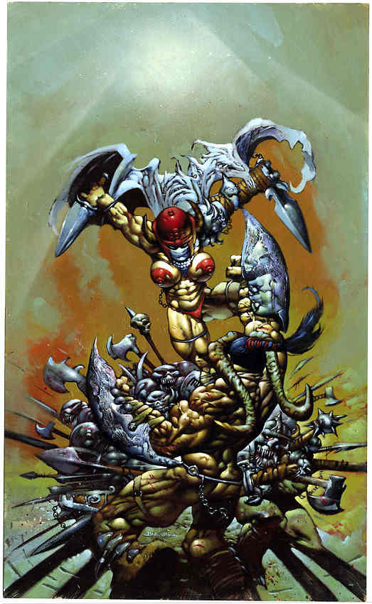 settlechaos:  Simon Bisley  Visuals that my populated my teendom.