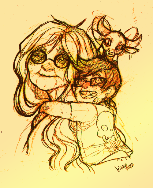 kitkaloid:  Quick doodle of granny Jade and little English…