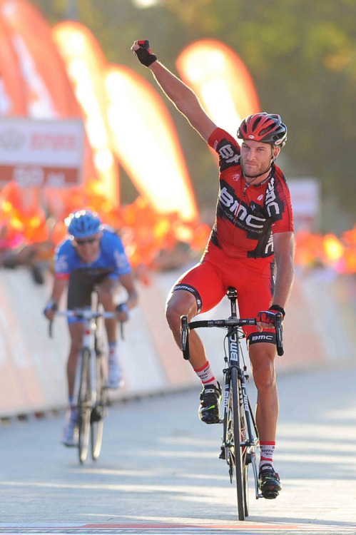 Steve Cummings took a convincing sprint victory over Ryder Hesjedal to win the final stage of the Tour of Beijing. via BMC Racing Team.