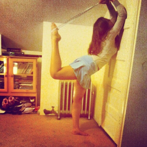 I can do it higher but my back was hurting :/ . (Taken with Instagram)