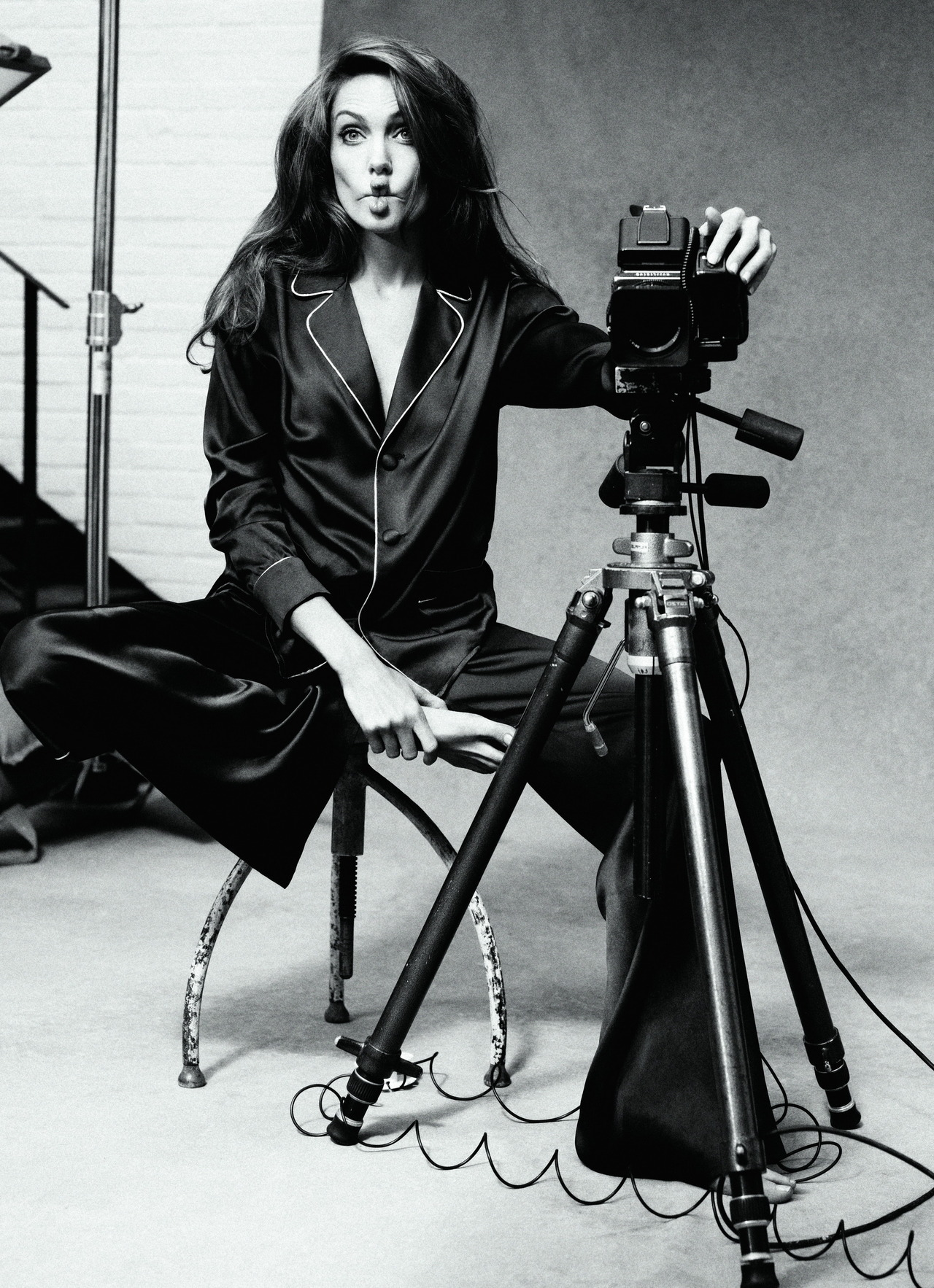 Angelina Jolie photographed by Alexei Hay for Marie Claire, January 2012