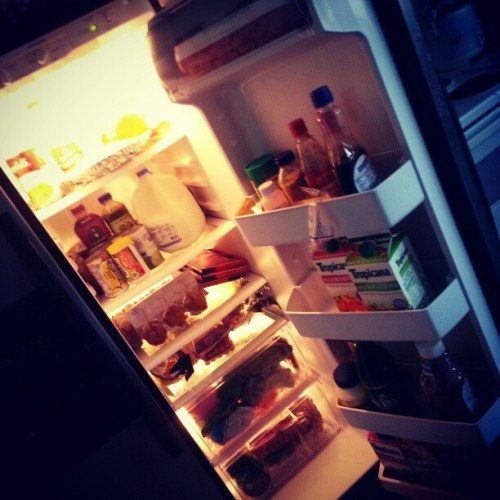 I love when the fridge is full!  (Taken with Instagram)