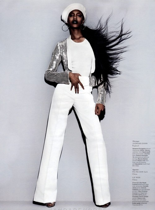 bohemea:  Jourdan Dunn: Model Mania - W by Michael Thompson, November 2012