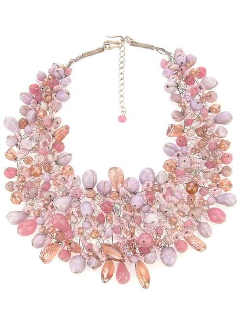 Monday's Dash of Colour: Baby Pink  Paleari News   Beaded necklace