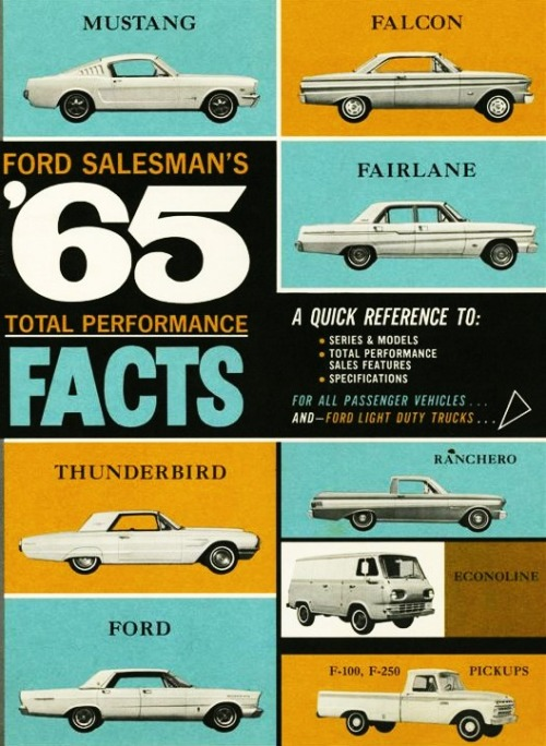 1950sunlimited:  Ford Salesman Facts, 1965 Brochure cover
