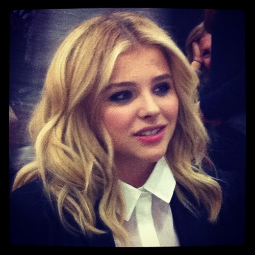 Interviewing Chloe Grace Moretz. #nycc #carrie  (Taken with Instagram at New York Comic Con)