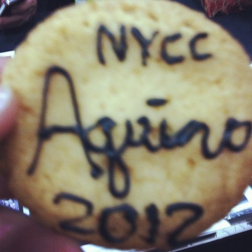 Gretchen made cookies for the Comic News Insider booth! #nycc  (Taken with Instagram at New York Comic Con)
