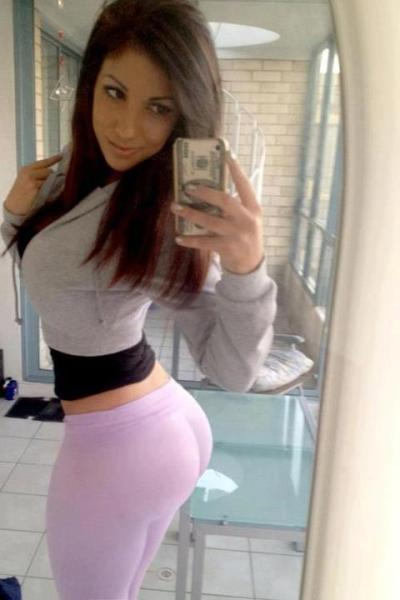 realnsfw:  Snapping a self shot in lavender yoga pants [x-post from r/hotties]