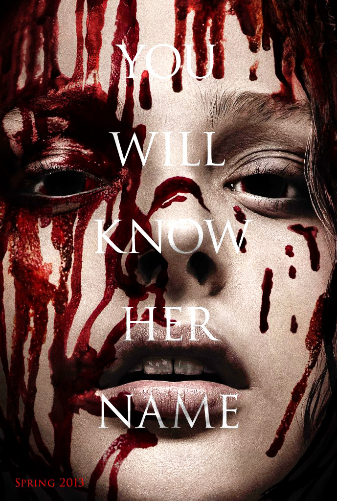 First Carrie (2013) International Poster.   Kind of interested to see what they do with this even though its yet another bloody remake