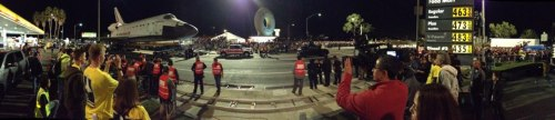 @propagandery:  Space Shuttle Endeavour gets towed by a Toyota Tundra. via @Adisms