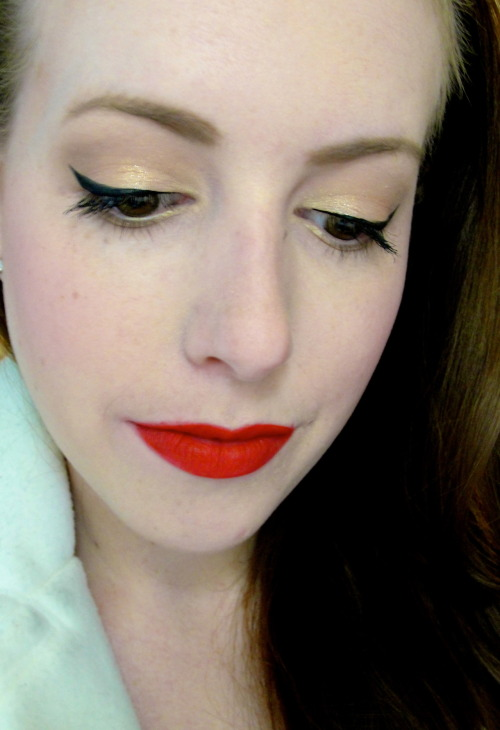 Just filmed a tutorial for this. Nothing better than a red lip.