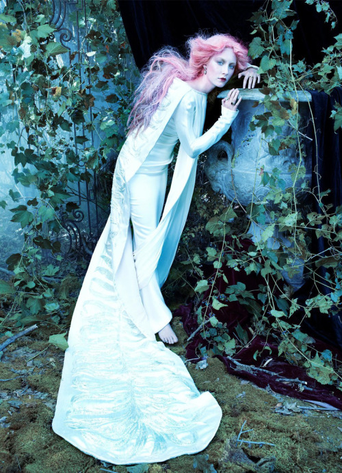 bohemea:  Saoirse Ronan: The Cult of Beauty - Vogue by Steven Meisel, December 2011