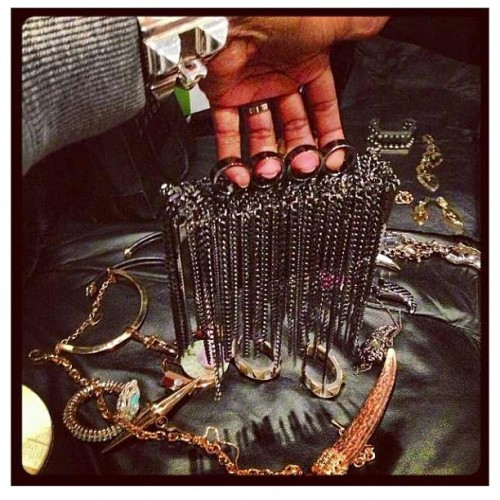 This clutch from Kanye West's line…. 😍👌 (Taken with Instagram)