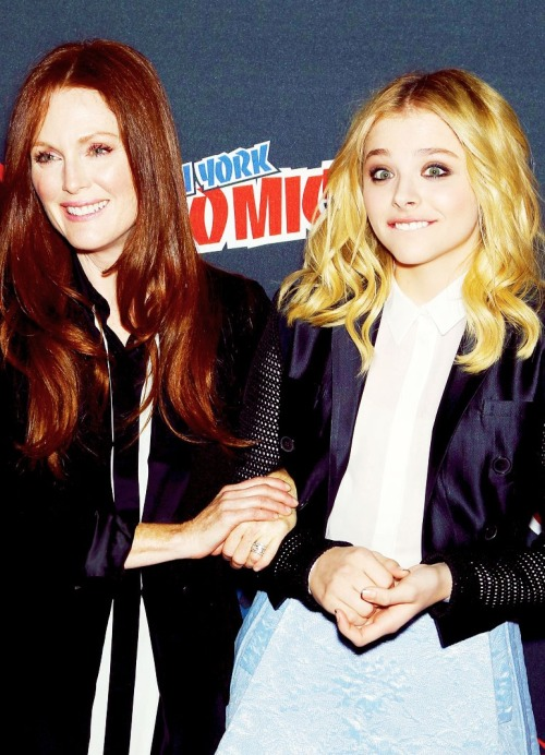 Chloe Moretz and Julianne Moore at New York Comic Con, October 13th 2012