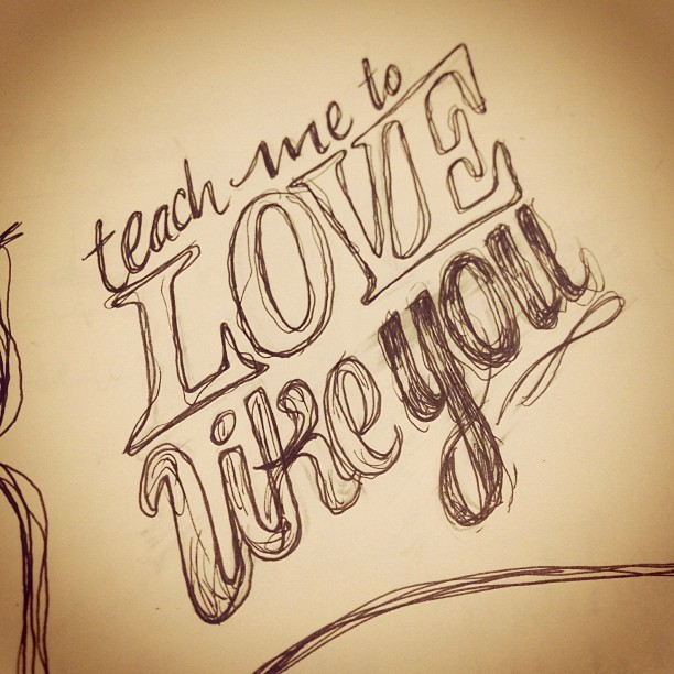 some sketchy #lettering from a couple weeks ago.. trying to keep posting things as I don't have time to draw lately.. sorry! #drawing #typography #quote #pen #ink #moleskine  (Taken with Instagram)