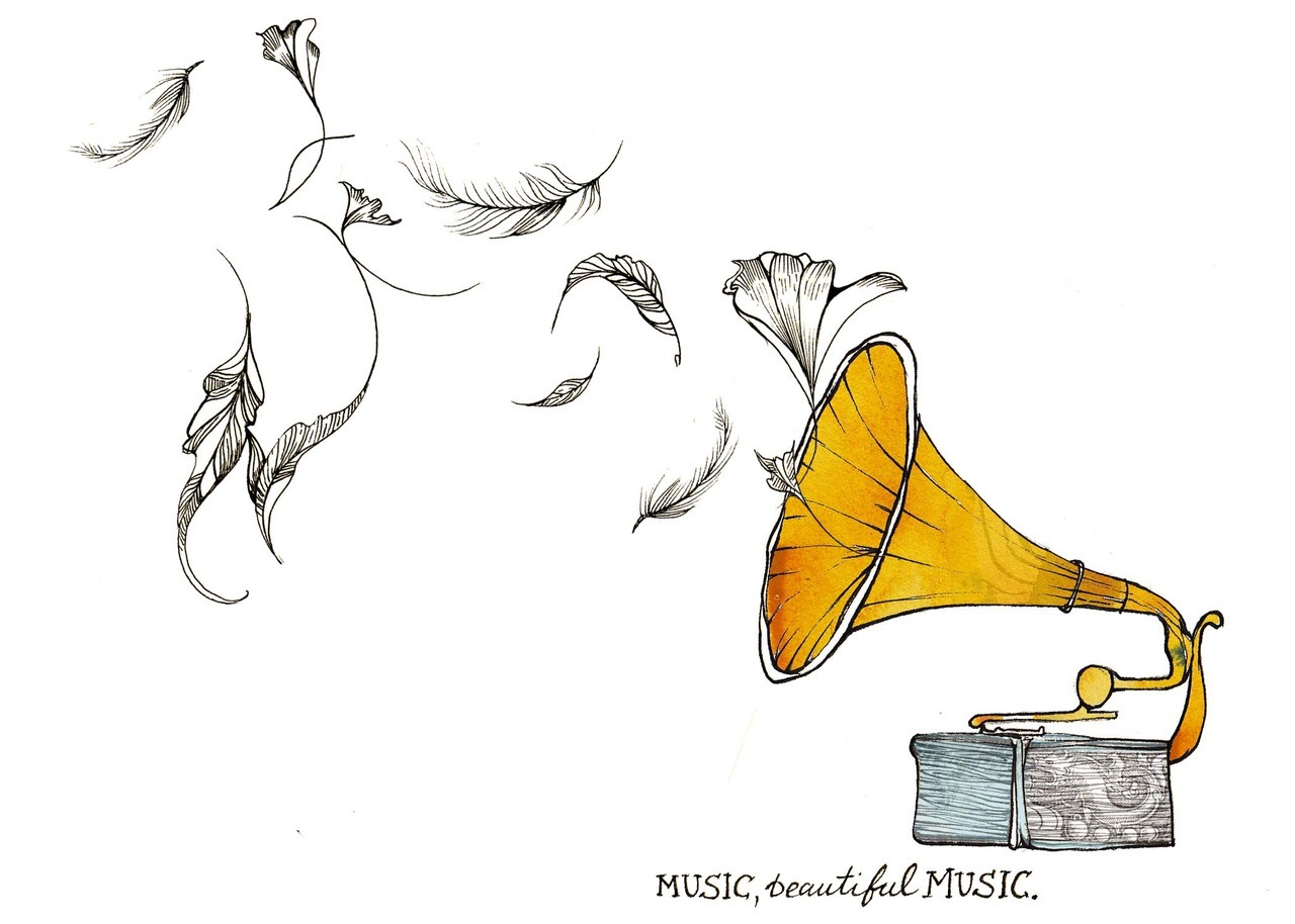 """Music, beautiful music"".http://1thingapp.com/"