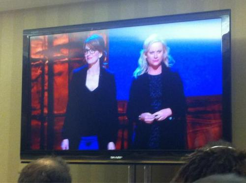 A night of hanging out with Tina Fey and Amy Poehler sold for over $70K! Also Tina's rocking some new specs