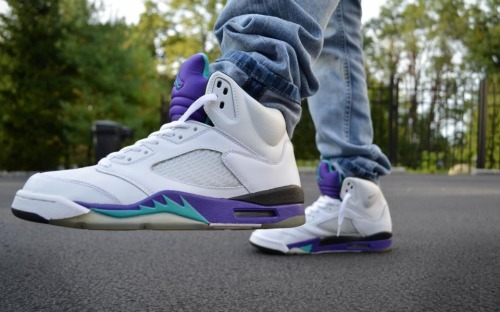 Grape Jordan 5s, Jack Wagner, Ice <3. Follow me on instagram @nick2dope #rockyourkicks