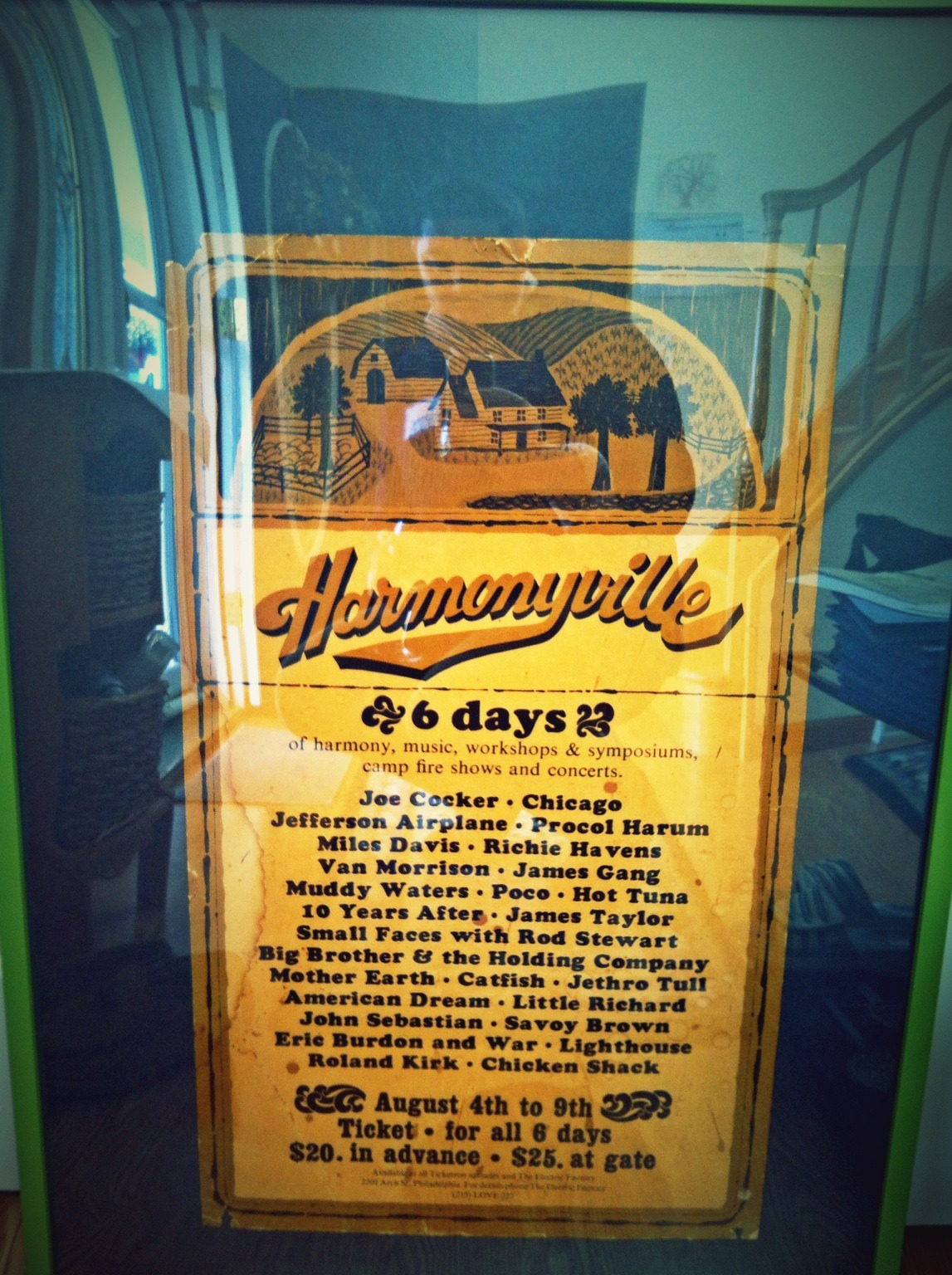 """woodstock that never was."" original 1970 concert poster. harmonyville was supposed to take place on the ratcliffe farm in walpack, nj. – View on Path."
