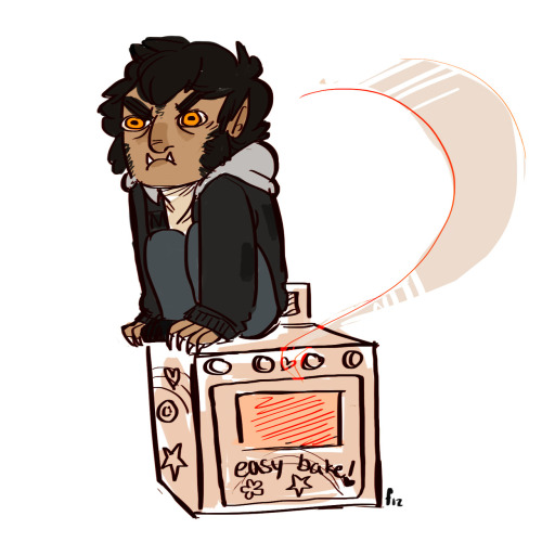 foxboros:  no you stopped to bake it in your little werewolf oven