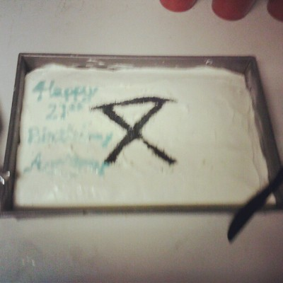 fightthedeadfeartheliving:  Birthday cake from my aunt. (Taken with Instagram)