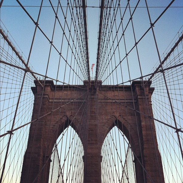 #brooklynbridge #brooklyn #nyc #geometry (Taken with Instagram)