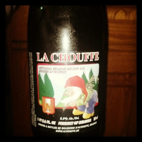 #belgian #beer #gnome #yummy #LaChouffe (Taken with Instagram at Sinning's)