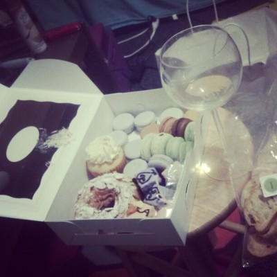 Wine and sweets :) (Taken with Instagram at Amber's Room)