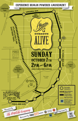Atlanta Autumn 2012 Streets Alive Map