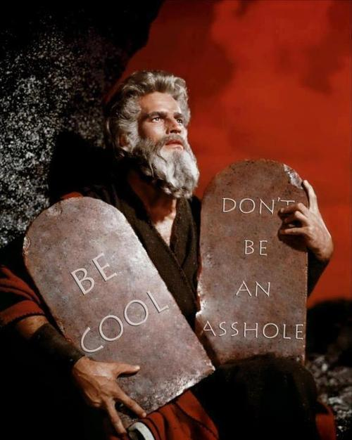 The two commandments.