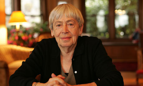 "The A.V. Club's ""Gateways to Geekery"" article featuring Ursula K. Le Guin Having had the enormous pleasure of meeting Mrs. Le Guin in person, I can say that she is without a doubt the kindest, most genuine and thoughtful person I have ever had the privilege of hearing speak. I was introduced to her work with ""The Ones That Walk Away from Omelas,"" and brief snippets of ""Left Hand of Darkness,"" and the Tales From Earthsea are next on my list. (photo via The Guardian)"
