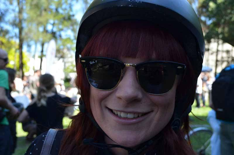 Woop 2, Sydney rides Festival. Helmet and glasses never looked so good.