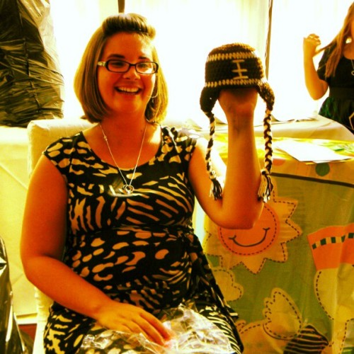 #cutest #knit #football #hat #baby #babyshower #loveit  (Taken with Instagram)