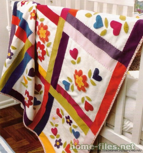 felt applique quilt pattern
