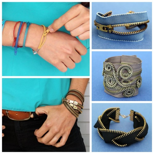truebluemeandyou:  DIY Five Zipper Bracelets Tutorials from Brit + Co here. *For lots more zipper crafts from jewelry to lots of zipper fashion DIYs go here: truebluemeandyou.tumblr.com/tagged/zippers