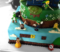 3UP Video Game Wedding Cake by The Cakery