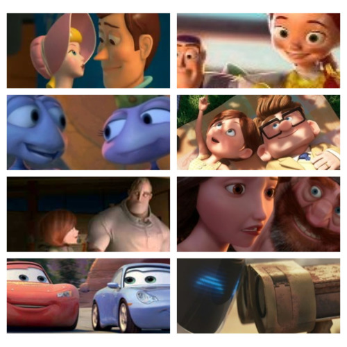 potteraddict22:  You can't deny that disney and Pixar have the most adorable couples in their movies! It's just so awesomely amazing and cute and asjkdjdksj!!!!! : )