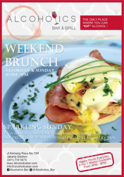 Weekend Brunch @Alcoholics_Bar Kemang #infoJF