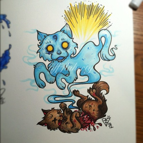 Ghost👻🐱 Cat!! #copicmarkers #ghost #cat #neko  (Taken with Instagram)