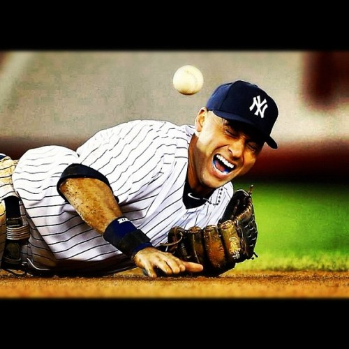 😢💙 #derekjeter #newyorkyankees #wahhhhhhhh  (Taken with Instagram)