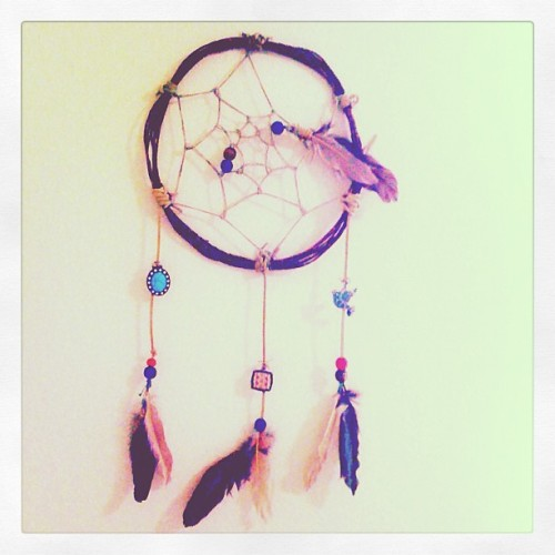 Dreams. #dreamcatcher #artsandcrafts #feathers  (Taken with Instagram)