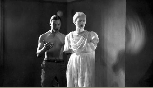 "Jean Cocteau     Enrique Rivero and Lee Miller, Screenshot from ""Le sang d'un poète""      1930"